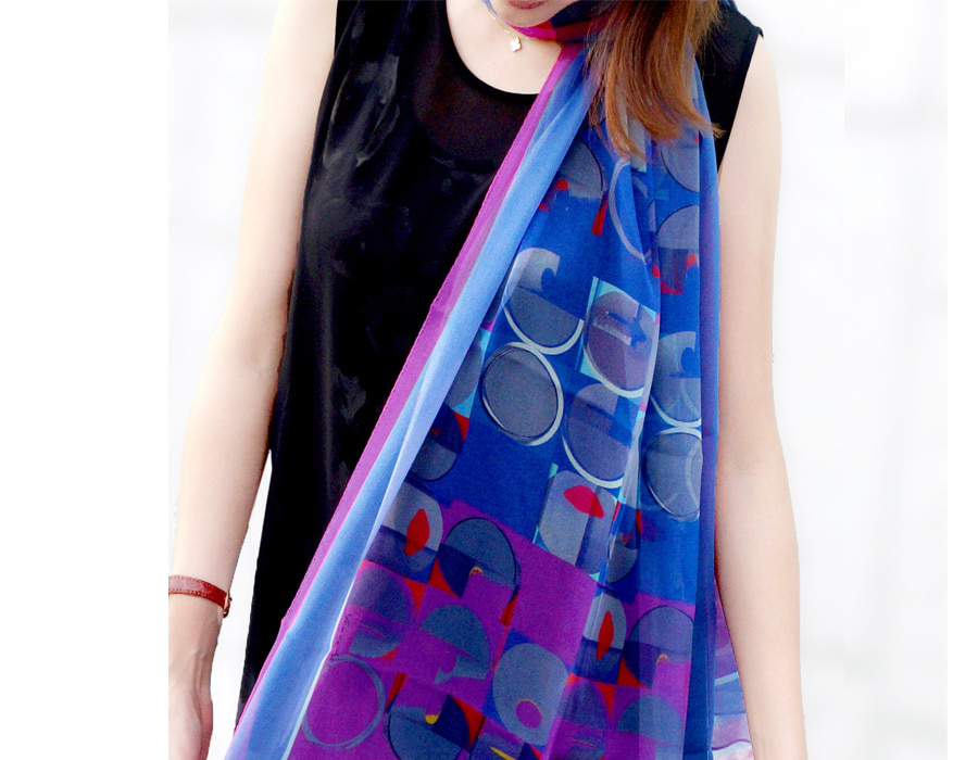 silk scarf, modal scarf, wool silk, women's scarf, luxury style